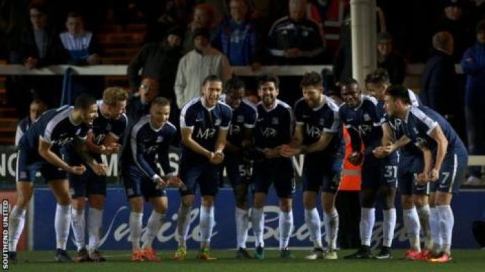 Southend players